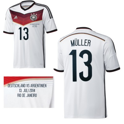 DFB DEUTSCHLAND Trikot Home Herren WM Finale 2014 - MÜLLER 13